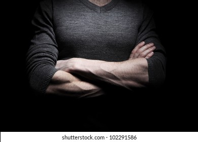 Concept image of confident man