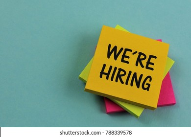 An concept Image of a we´re hiring note