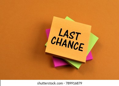 An concept Image  of a last Chance note
