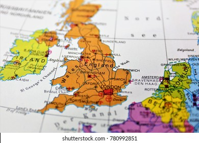 An concept Image of a map of england