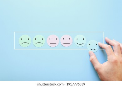 Concept image of satisfaction level with emotions