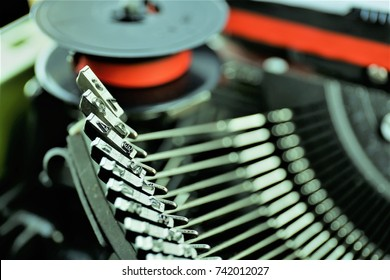 An concept image of a vintage typewriter