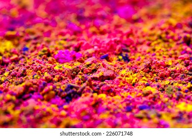 Concept Indian color festival called Holi