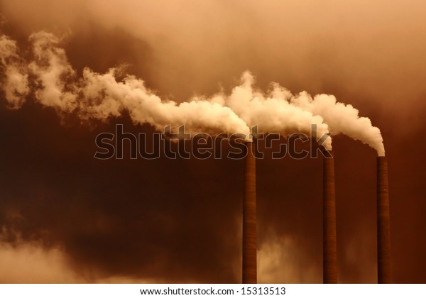 Concept of Industrial Waste Polluting the Planet