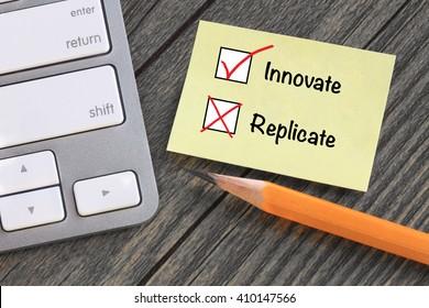concept of innovation, no replication