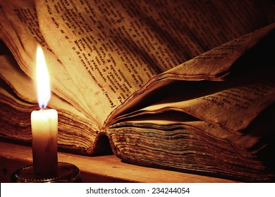 concept of knowledge, vintage book candle