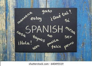 concept of learning spanish language
