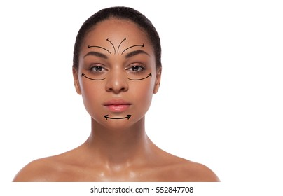 concept of a lifting effect on a ideal skin