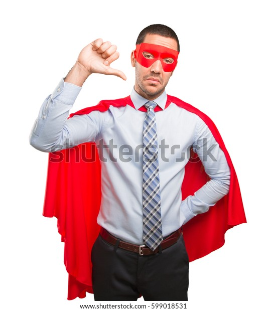 Concept of a loser super businessman