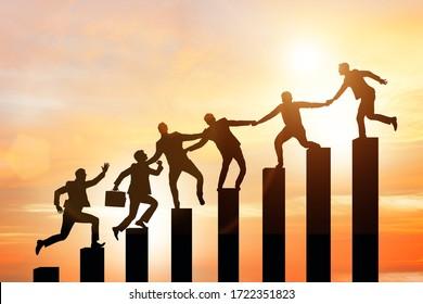 Concepto de tutoría y apoyo en los negocios