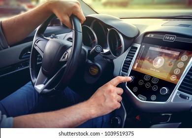 Concept of modern car dashboard.