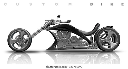 concept motorcycle (No trademark. it is design and the 3d model completely exclusive. my development) High resolution 3D