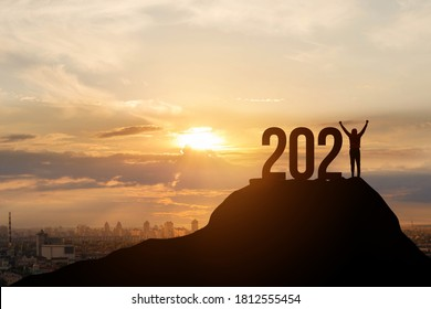 Concept of New 2021 growth and development prospects.
