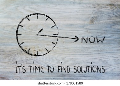 concept of not wasting time, find solutions