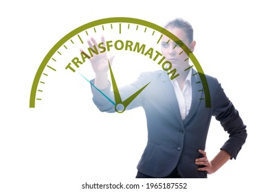 Concept of organisational change and transfomation with business