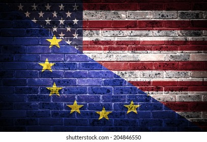 A concept of the partnership between The EU and America.