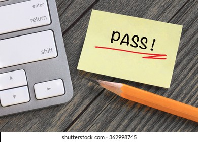 concept of pass on a note