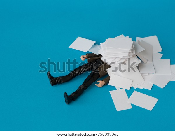 Concept, people swamped with paperwork