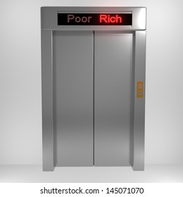 Concept from poor to rich
