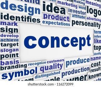Concept poster design. Creative vision message background