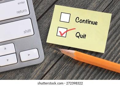 concept of quit decision