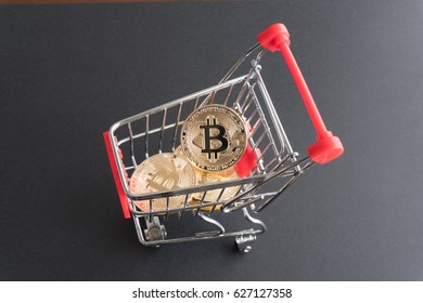 Concept of shopping by bitcoin
