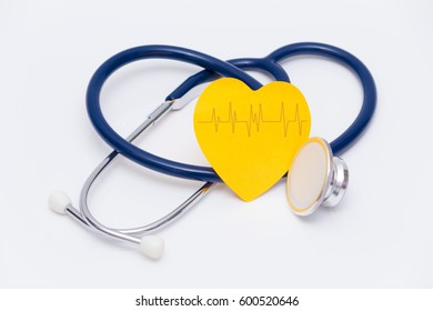 concept with stethoscope and note
