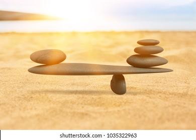 Concept of stones harmony and balance