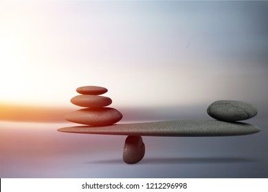 Concept of stones harmony and balance