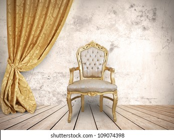 Concept of success with luxurious chair