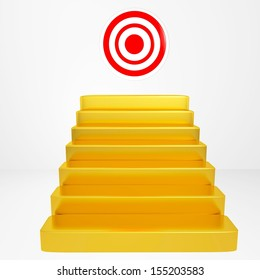Concept target isolated on white