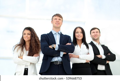 concept of the team leader and successful professional business