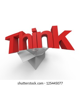 """Concept of """"think outside the box"""""""