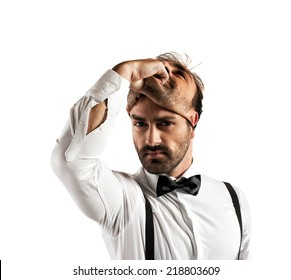 Concept of time to change with businessman and mask