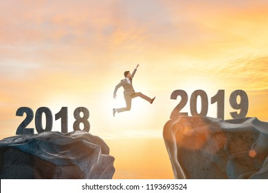 Concept of transition between 2018 and 2019