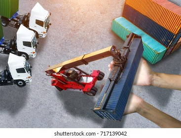 concept trust the way take care shipment in handle of services mild, by logistics transports, to ensure the cargo reach to destination in time and meet always good condition with report step by step