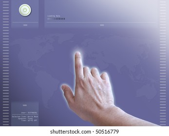 Concept of user interaction on a touch screen monitor