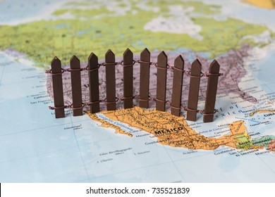 concept of US-Mexican border wall as suggested by American president Donald Trump