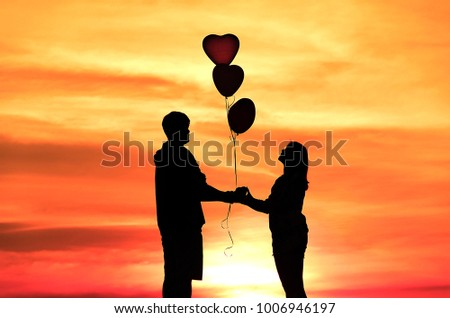 Concept Valentines Day Lovers Love Holding Stock Photo Edit Now