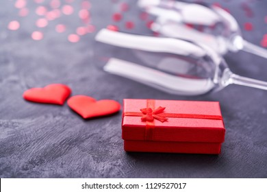 Concept for valentine's day with  romantic moment