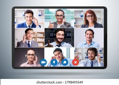 Concept de collaboration virtuelle par visioconférence
