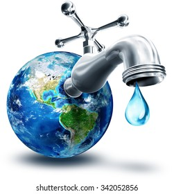 concept of water conservation in America - Usa, elements of this image furnished by NASA