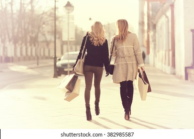 concept of women shopping, shopaholic, walk