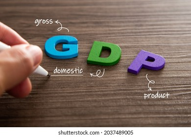 Concept words 'Gross Domestic Product'. Gross Domestic Product word made of wooden letters