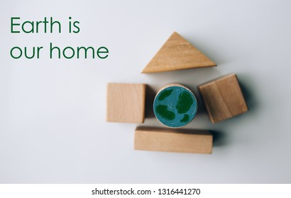 The concept of World Environment Day. Save earth.Ecology concept.Earth is our home.