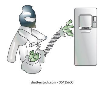 Conception of thefts of money from credit cards ATMS