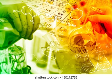 Concepts in Chemistry, researcher working in a laboratory.
