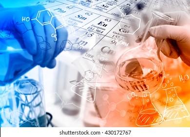 Konzepte in der Chemie, Forscher in einem Labor.