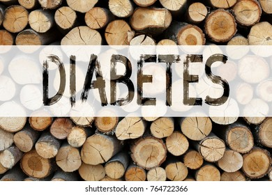 Conceptual announcement text caption inspiration showing Diabetes Business concept for Disease Medical Insulin written on wooden background with space