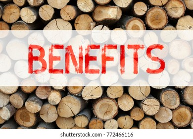 Conceptual announcement text caption inspiration showing Benefits Business concept for Bonus Employee Financial Benefits written on wooden background with space